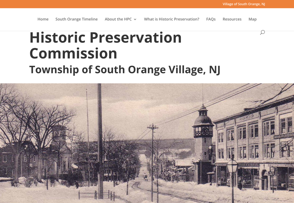 south orange historic preservation home page