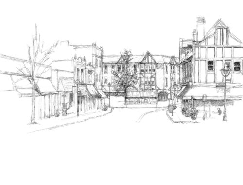 Drawing of Maplewood Avenue
