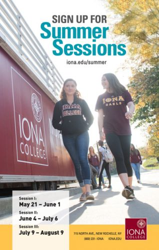 Iona summer session ad